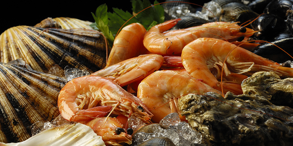 Fresh and live shellfish available daily